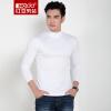 Красная фасоль Hodo мужская футболка мужская мода сплошной цвет половину воротника белых мужчин с длинными рукавами футболки W1 185 / 100A outventure ветровка мужская outventure