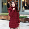2017 New Winter Coat Long Thick Cotton Padded Jacket Warm Cotton Slim Down Jackets women winter coat new fashion elegant slim jackets hooded warm down cotton overcoat medium long large size jacket female ok278