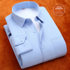 Business Gentleman Men Long Sleeve Shirt Spring Autumn Winter Silm Fit Solid Color