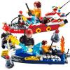 Новые Гуди новые музыкальные блоки огонь лодки пожара серии GD9213 детские строительные блоки собраны игрушки игрушка мальчика строительные блоки собраны головоломки музыкальные игрушки