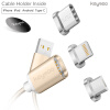 все цены на Keymao Magnetic Phone Kabel Data Lighting Type-C Micro USB Charger  Cable 3-in-1 for Iphone Android онлайн