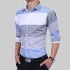 casual long sleeves striped shirt dress for women Brand 2017 Fashion Male Shirt Long-Sleeves Tops Large Striped Men'S Casual Mens Dress Shirts Slim Men Shirt 2XL