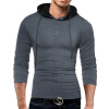 Male 2017 Brand Long Sleeve Button Stitch T Shirt Collar Slim Men T-Shirt Tops Fashion Mens Tee Shirt T Shirts XXXL