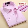 Деловой стиль Мужская рубашка Мода с коротким рукавом Твердый цвет Весна Осень Тонкий мода цвет стиль
