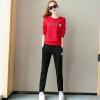 Форт Шэна осень и зимой свитер случайного спортивной студентка 2017 года новых женщин корейской моды свитер цельный zx1783005 работает красный M