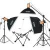 Годокс Гоблин 250SDI Три легких студийных комплекта Flash-фотосъемка Light Photography Softbox Camera Light Set