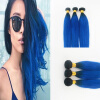 цена на Best Selling Brazilian Virgin Hair 3Pcs/Lot Ombre Color Human Weaves 10-30 Straight Hair In Human Hair Extensions