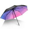 цена iRain Umbnella УФ солнечный зонт складной зонт три складной зонт градиент звезды Зонт зонтик кристалл онлайн в 2017 году