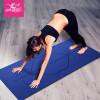 Gold la la 185cm * 80cm * 15mm расширяющийся утолщение фитнес-коврик противоскользящий йога коврик сиденье положение синий