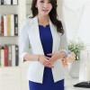 Women Blazers & Jackets Half Sleeve With Turnback Cuffs Blazer Coat Casual Single Button Outerwear Slim Blazer Feminino OL style