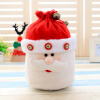 5 Colors Christmas Gifts Bags Non-woven Material Santa Snowman Candy Bag Bells Kids Decoration Party Favors Pouch Accessories  christmas snowman toy kids gift star shape candy jar
