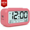 Digital Alarm Clock Student LCD Display Snooze Kids Clock Light Sensor Calendar Temperature Date Nightlight Office Table Clock inlife wake up light fm radio time display snooze alarm clock bedside mood lamp