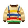 Детская одежда для мальчиков Зимние толстые толстовки Костюм для малышей повседневного свитера