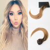 7Pcs 120G High Quality Brazliian Hair #4 Fading to #14 Ombre Balayage Color Straight Hair Full Set Clip In Hair Extensions 50 hanks high quality mongolia black violin bow hair 6 grams each hank in 32 inches