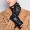 Пугало мексиканские кожаные перчатки мужские кожаные перчатки потрогать Перчатки Велосипедные перчатки теплые зимние перчатки, мода сенсорный экран черный кобель XHP0003M-L мужские кожаные перчатки в самаре
