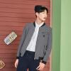 Semir (Semir) Падение кртка стоячий воротник кртки корейской версии 2017 года тренда молодой черный пиджак 17,316,081,029 светло-серый S