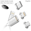 Keymao Magnetic Phone Kabel Data Lighting Type-C Micro USB Charger  Cable 3-in-1 for Iphone Android keymao magnetic phone kabel data type c micro usb lighting charger cable 3 in 1 for iphone ipad samsung