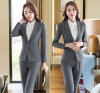 Novelty Gray Long Sleeve Autumn Winter Career Blazer Coat Formal Professional Ladies Slim Fashion Jackets Coat Outwear Uniforms lucky panda 2016 woman winter cotton thickened slim slim down in the long coat coat of students lkb186