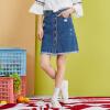 Semir (Semir) юбка женской осенью 2017 года новые женские джинсовые юбки были тонким слово юбки прилив колледж Ветер темно-синие джинсы юбка 17316200009 L юбки vera nova юбка