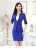 2017 Elegant Women Blazers Plus Size Half Sleeve Patchwork Deep V-neck Single Button Ladies Jackets Blue Black Rose 06 deep rose