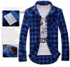 Men Plaid Shirt Camisas 2016 New Arrival Men\\\'s Fashion Plaid Long-sleeved Shirt Male Casual High Quality Shirt Size M Bu цена и фото