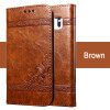 Keymao Luxury Flip Leather Case For Samsung Galaxy S7 edge leather case gold stamp flip cover for samsung galaxy s7 edge brown