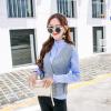 Форт Шэн 2017 осень корейской версии новой женской моды Тонкий темперамент небольшой ароматный ветер ретро элегантный полосатой рубашке простой серый костюм zx16090510 M форт ромашки 900x600 серый