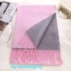 2017 новыймода двухсторонняя однородный цветтеплошарф кашемировый бахромашерстяной шарф зимойтеплошаль шарф шарф frantelli шарф