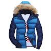 Съемный с капюшоном мужской хлопок цвет хлопок толстый хлопок куртка теплый шерстяной воротник высококачественный хлопок