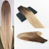 Balayage Color 4/18 Best Selling Virgin Hair 100G Per Bundle Straight Human Hair Weft Extensions 1g s 100g human remy hair 8 light brown straight custom capsule keratin stick i tip fusion full human hair extensions