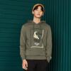 Semir (Semir) с капюшоном свитер 2017 осень мужской пуловер мужской Корейский волна молодежи камуфляж печать футболки осенью 19057161223 цветок серый L