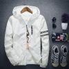 мужчины весной зимой осенью пиджак открытый спортивная одежда капюшон куртки тонкая пиджак Jacket Sweater sweat shirt кардиган boglioli k jacket пиджак