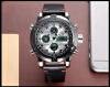Luxury Brand Водонепроницаемая кожа кварцевые аналоговые часы Мужчины цифровой светодиодный Army Military Спорт наручные часы Мужской Relogio Мужчина для