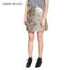 Ur женских случайные тонкие металлические кнопки Декоративного типа юбки YV04S5AN2001 золота M женские юбки в розницу