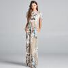 COCOEPPS Цветочная печать Bohe Maxi Платья Женское длинное пляжное платье 2017 Летняя женская элегантная винтажная напольная одежд
