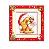 шитье DIY DMC вышивка крестом наборы для вышивания комплекты рождество собака прямых производителей шитье diy dmc вышивка крестом наборы для вышивания комплектыкосметическое зеркалопрямых производителей