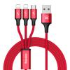 Кабель Baseus 3-в-1 Lightning/Micro USB/Type-C для зарядки и передачи данных кабель mobiledata usb usb 3 1 type c 1 м белый