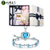 Город Yuguang 925 серебряное ожерелье браслет способа кристаллический ювелирных изделий коробки подарка, чтобы отправить подругу жены цепь ключицы День Валентина подарки браслет цепь moonlight vsbc267 925