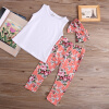 мода дети детей девочка летом цветочные максимум штаны из нарядов набор одежды висячие штаны для детей