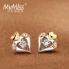 MyMiss925 посеребренные платиновые серьги серьги женщина серебро любовь Shugo Chara