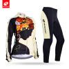 NUCKILY Зимняя женская верховая одежда Цветочный узор Девушка дизайн Руна длинный Велоспорт Джерси костюм GE006GF006