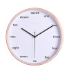 12 inch metal wall clock 30CM fashion clock silence quartz clock 12 inch 30cm wooden model comic