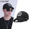 CACUSS B0085 Мужская весна / летняя шляпа Открытая шляпа Женская повседневная бейсбольная шляпа Черная женская шляпа