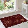 Зеленый тростник Европейский противоскользящий коврик для ног коврик для дома коврик на дому красный 50 * 80 см