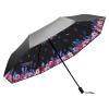Nailuo (чернь) УФ солнцезащитный зонт Зонт черный винил двойной зонтик складной зонт три N834001 зонты bisetti зонт
