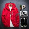 мужчины весной зимой осенью пиджак открытый спортивная одежда капюшон куртки тонкая пиджак Jacket Sweater sweat shirt кардиган