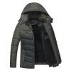 зимние костюмы Зимние перья хлопка костюмы в пожилых мужчин плюс бархат хлопок куртка куртка куртка