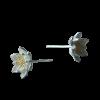 Luo Linglong s925 sterling silver earrings female gold-plated lotus earrings earrings earrings temperament jewelry flowers art bea подвески бижутерные lotus jewelry подвеска с бирюзой