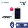 YChamp Bluetooth 4.0 APP TPMS Система контроля давления в шинах с поддержкой 4 внутренних датчиков Для телефона android iphone древняя ткань bugoo встроенный беспроводной контроля давления в шинах m1 длительного ожидания