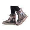 Потяните назад сапоги дождя наборы мужчин и женщин взрослый дождь водонепроницаемый нескользящий набивной чехол для обуви HXL227 кофе 3XL потяните назад   воин пары моделей